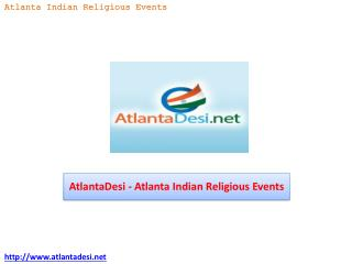 AtlantaDesi - Atlanta Indian Religious Events