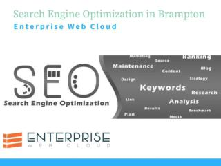 Search engine optimization brampton - enterprise web cloud