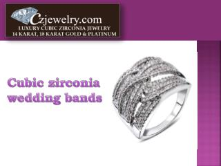 Cubic Zirconia Wedding Bands - Czjewelry