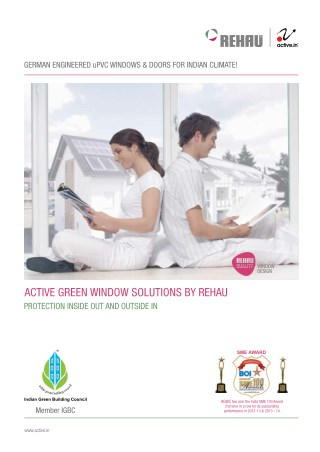 Rehau Upvc window & Doors - Active Green Window Solution