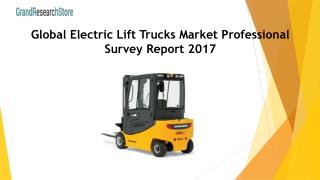 Global Electric Lift Trucks Market Professional Survey Report 2017