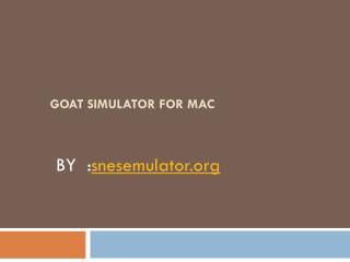 Goat Simulator for Mac Download