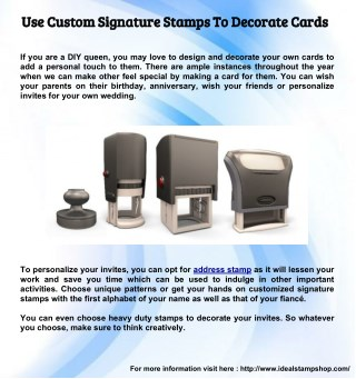 Use Custom Signature Stamps To Decorate Cards