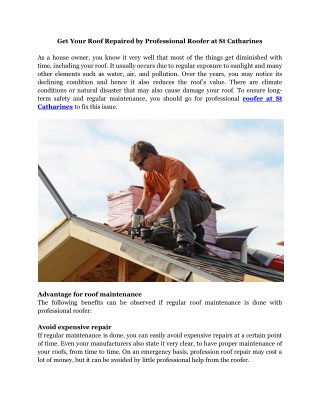 Expert Roof Repair, Roofers in St. Catharines