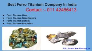 Ferro Titanium Lumps| Manufactures| Supplires| India