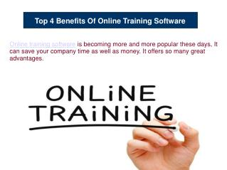 Top 4 Benefits Of Online Training Software