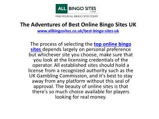 The Adventures of Best Online Bingo Sites UK