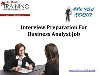 Interview Preparation For Business Analyst Job