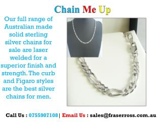 Silver Necklaces - Chain Me Up