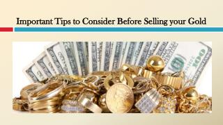 Important Tips to Consider Before Selling your Gold