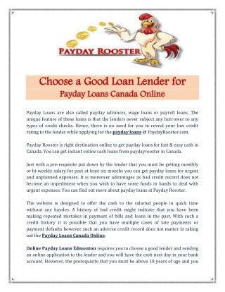 Getting Payday Loans