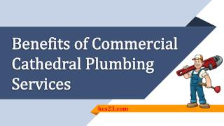 Benefits of Commercial Cathedral Plumbing Services