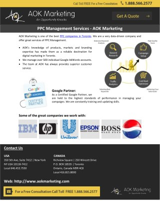 PPC Management Services - AOK Marketing