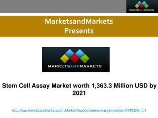 Stem Cell Assay Market Forecast to 2021