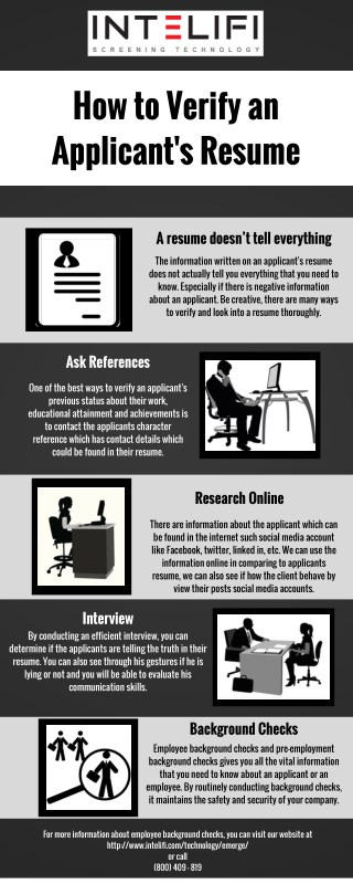 How to Verify an Applicant's Resume