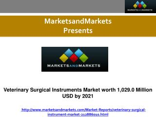 Veterinary Surgical Instruments Market Forecast to 2021