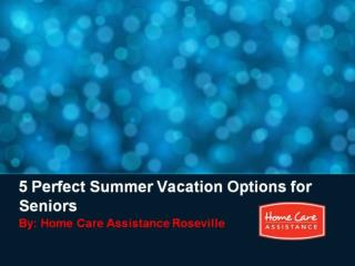 5 Perfect Summer Vacation Options for Seniors