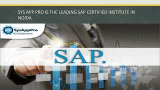 Which is the Best SAP Certification Institute in Noida