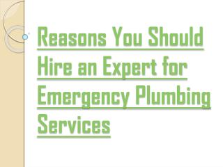 Hire 24 hour Emergency Plumber for your Plumbing Issues