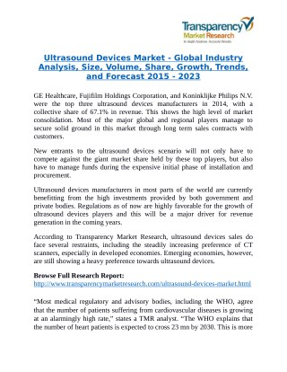 Ultrasound Devices Market: Doppler Devices Expected to be the Future of Ultrasound