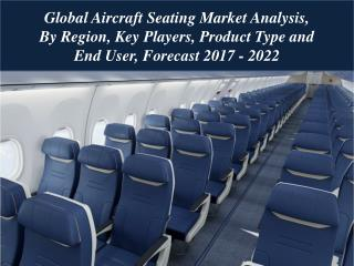 Global Aircraft Seating Market Analysis, By Region, Key Players, Product Type and End User, Forecast 2017 - 2022