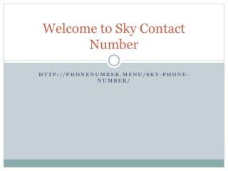 sky contact number