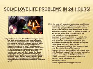Best Astrologer-Solve Any Problem in 72 Hours|Call: 91-9896430025