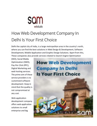 How Web Development Company In Delhi Is Your First Choice