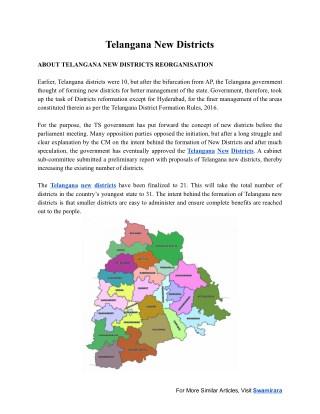 Telangana New Districts