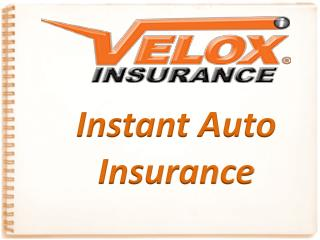 Instant Auto Insurance