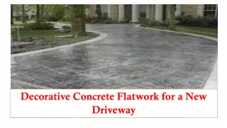 Decorative Concrete Flatwork for a New Driveway