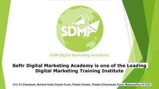 Complete Digital Marketing Training in Pune With SDMA- SoftR Digital Marketing Academy Pune.