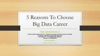 5 Reasons To Choose Big Data Career