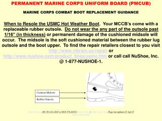 MARINE CORPS COMBAT BOOT REPLACEMENT GUIDANCE