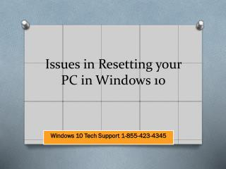 Issues in resetting your pc in windows 10 | Windows 10 Tech SUpport