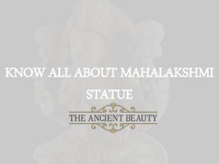 Best Mahalakshmi Statue at Best Prices | The Ancient Beauty