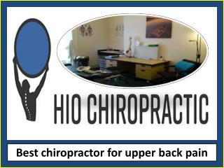 Chiropractor for upper back pain
