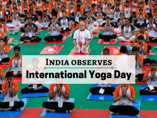 India observes International Yoga Day