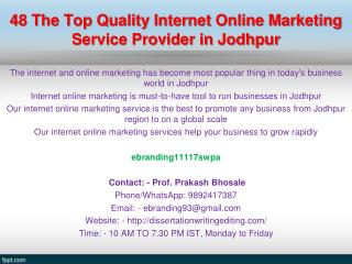 48 The Top Quality Internet Online Marketing Service Provider in Jodhpur
