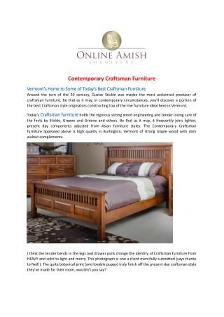 Contemporary Craftsman Furniture