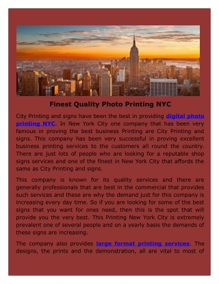 City Printing & Signs Printed banners and signs nyc to the whole New York.