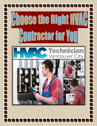 Choose the Right HVAC Contractor for You