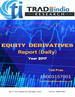 Daily Derivative Prediction Report By TradeIndia Research