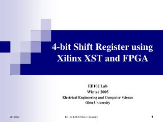 4-bit Shift Register using Xilinx XST and FPGA