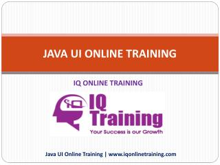 Live, Instructor-Led Java Online Training