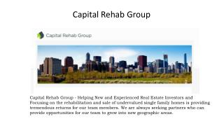 CapitalRehabGroup - Helping New and Experienced Real Estate Investors