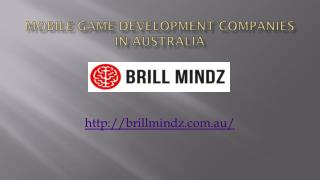 Best Mobile game development company in australia