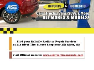 Find your Reliable Radiator Repair And Service near Elk river, mn