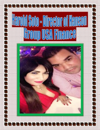 Harold Soto - Director of Hanson Group USA Finance