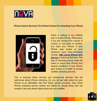 iPhone Unlock Services The Perfect Choice For Unlocking Your iPhone
